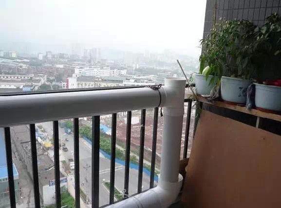 阳台PVC管种菜造型