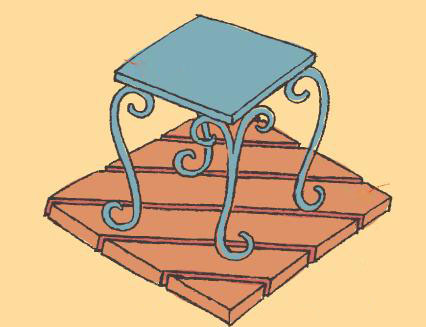 台子、竹板