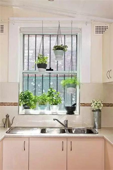 厨房的窗台