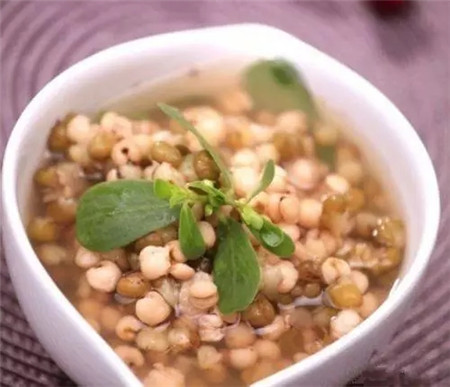 马齿苋绿豆薏仁汤