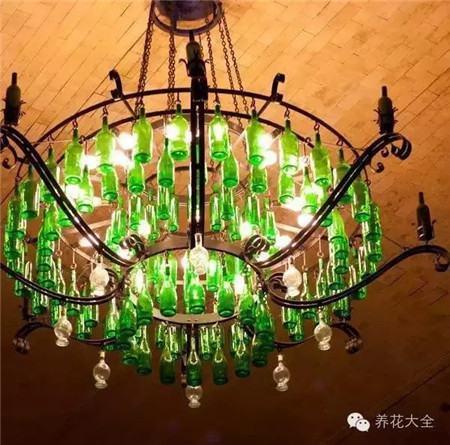 酒瓶吊灯图片