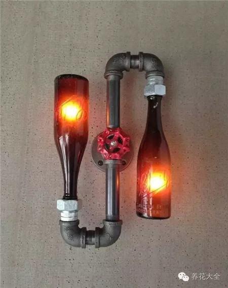 创意酒瓶灯图片