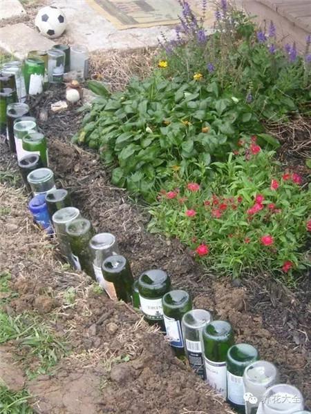 DIY酒瓶篱笆