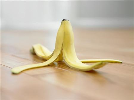 香蕉皮可以擦叶子