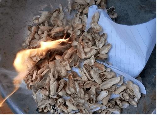 燃烧花生壳