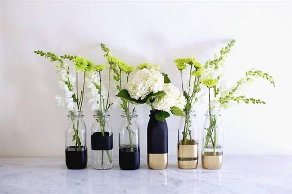 喝剩的酒瓶子也能种花,做风铃……